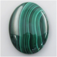 1 Malachite AA oval cabochon gemstone (N) Approximate size 30.3 x 40.3mm #1