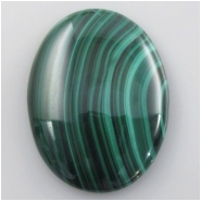 1 Malachite AA oval cabochon gemstone (N) Approximate size 30.3 x 40.3mm #3