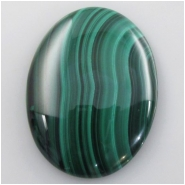 1 Malachite AA oval cabochon gemstone (N) Approximate size 29.7 x 40.2mm #7