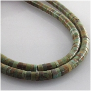 Turquoise Maan Shaan heishi AA gemstone beads (S) Approximate size 3mm 16 inch