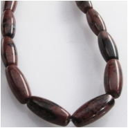 Mahogany Obsidian puff rice gemstone beads (N) Approximate size 5 x 12mm 15.5 inch