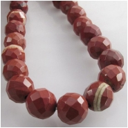 Red Jasper faceted round gemstone beads (N) Approximate size 10mm 15.5 inch