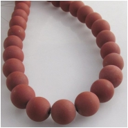 Red Jasper frosted round gemstone beads (N) Approximate size 8mm 15.5 inch