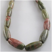 Unakite puff rice gemstone beads (N) Approximate size 5 x 12mm 15.5 inch