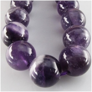 Amethyst  banded round gemstone beads (N) Approximate size 12mm 15.5 inch
