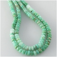Chrysoprase varigated rondelle gemstone beads (N) Approximate size 4.1 to 4.5mm 14 inch