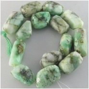 Chrysoprase faceted rustic nugget gemstone beads (N) Approximate size 12 x 23mm to 17 x 30mm 14 inch