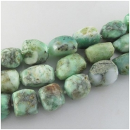 Chrysoprase faceted rustic nugget gemstone beads (N) Approximate size 13 x 16mm to at least 19 x 26mm 14 inch