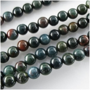 Bloodstone Fancy Jasper round gemstone beads (N) Approximate size 4mm 15.5 inch
