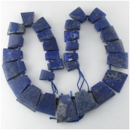Lapis rustic graduated trapezoid pendant gemstone beads (N) Approximate size range 11 x 16mm to 24 x 28mm 18.5 inch