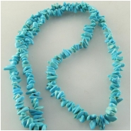 Turquoise Sleeping Beauty nugget chip gemstone beads (S) Approximate size 2.6 x 4.6mm to 3.7 x 6.5mm 18 inch