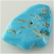 1 Turquoise Sleeping Beauty pendant gemstone bead (S) Approximate size 31 x 46mm x 9mm thick