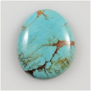 Hubei Turquoise Freeform Gemstone Cabochon (S) Approximate Size 20.7 x 25mm