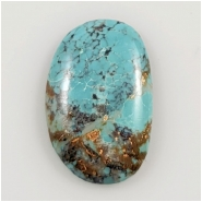 Hubei Turquoise Freeform Gemstone Cabochon (S) Approximate Size 16.8 x 25.75mm
