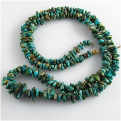 Turquoise Fox graduated nugget gemstone beads (N) 4  to 11mm 24 inch