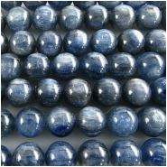 3 Kyanite blue round AA gemstone beads (N) 10.2 to 10.4mm CLOSEOUT