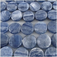 13 Kyanite blue AA coin gemstone beads (N) 15 to 16mm CLOSEOUT