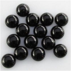 12 Black Onyx A round cabochon loose cut gemstones (DH) Approximate size 3mm