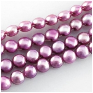 Pearls mabe coin beads (D) Approximate size 7mm 16 inch