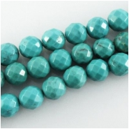 4 Turquuoise Hubei faceted A round gemstone beads (S) Approximate size 8mm