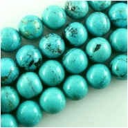2 Turquoise Hubei large AB round gemstone beads (S) Approximate size 12mm
