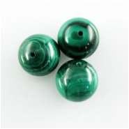 3 Malachite A round gemstone beads (N) Approximate size 13mm to 14mm