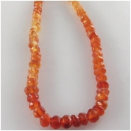Carnelian multi color faceted rondelle gemstone beads (H) Approximate size 3.5 to 4mm 13.5 inch