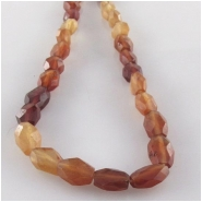Garnet Hessonite faceted oval gemstone beads (N) Approximate size 4.5 x 6mm to 5 x 7.5mm 13.3 inch