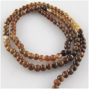 Garnet Hessonite round gemstone beads (N) Approximate size 3mm 13.3 inch