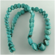 Turquoise Hubei overlap coin lentil gemstone beads (S) Approximate size range 6 to 13mm 17 inch
