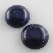 2 Lapis round cabochon gemstones (S) Approximate size 14mm