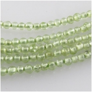 Peridot round tiny gemstone beads (N) Approximate size 2mm diameter 14.5 inch