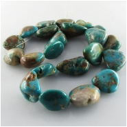 Turquoise Fox large nugget gemstone beads (S) Approximate size 10 x 15mm to at least 15 x 17mm 16 inch