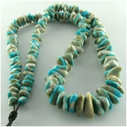 Turquoise Fox small nugget gemstone beads (S) Approximate size 5 x 6mm to at least 9 x 10mm 18 inch