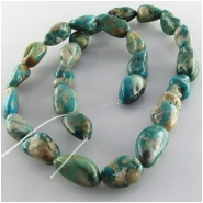 Turquoise Fox medium nugget gemstone beads (S) Approximate size 9 x 10mm to at least 10 x 14mm 16 inch