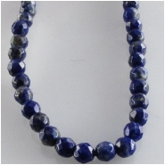 Lapis faceted round gemstone beads (N) Approximate size 3mm 16 inch