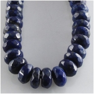Lapis faceted rondelle gemstone beads (N) Approximate size 6mm 15.7 inch