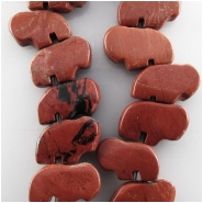 24 Red Jasper half strand buffalo fetish gemstone beads (N) Approximate size 8 x 12mm