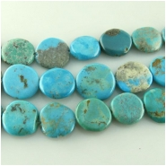 Turquoise Hubei  irregular coin gemstone beads (S) Approximate size 14 to at least 16mm 16 inch