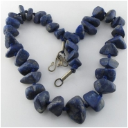 Lapis rustic graduated nugget 1mm big hole gemstone beads (N) Approximate size 8 x 10mm to at least 16 x 22mm 17.5 inch