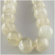 Moonstone grey B round gemstone beads (N) Approximate size 5.7 to 7.9mm diameter 14.5 inch