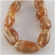 Sunstone nugget gemstone beads (N) Approximate size 7 x 8mm to at least 8 x 15mm 15.5 inch
