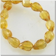 10 Citrine faceted tear drop gemstone beads (H) 3.5 to 4.5mm CLOSEOUT