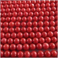 Coral bamboo round gemstone beads (D) 3.9mm  15.7 to 16 inch CLOSEOUT
