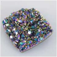 1 Titanium infused AAA square or diamond shape druzy cabochon 17 to 18mm CLOSEOUT