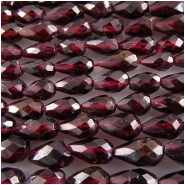 Garnet faceted tear drop gemstone beads (N) 5 x 8mm 13.5 inch CLOSEOUT