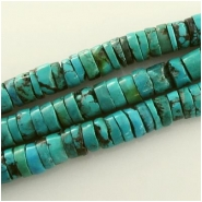 Turquoise Hubei rustic heishi gemstone beads (S) Approximate size 10mm 15.5 inch