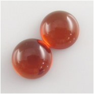 2 Amber Baltic round gemstone cabochons (N,H) Approximate size 14mm