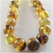 Amber multi color round gemstone beads (N) Approximate size 7mm (6.7 to 7.2mm) 16 inch