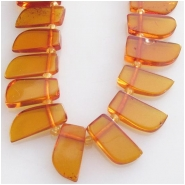 Amber petal briolette gemstone beads (N) Approximate size 5.5 x 9mm to at least 7 x 13mm 15.5 inch